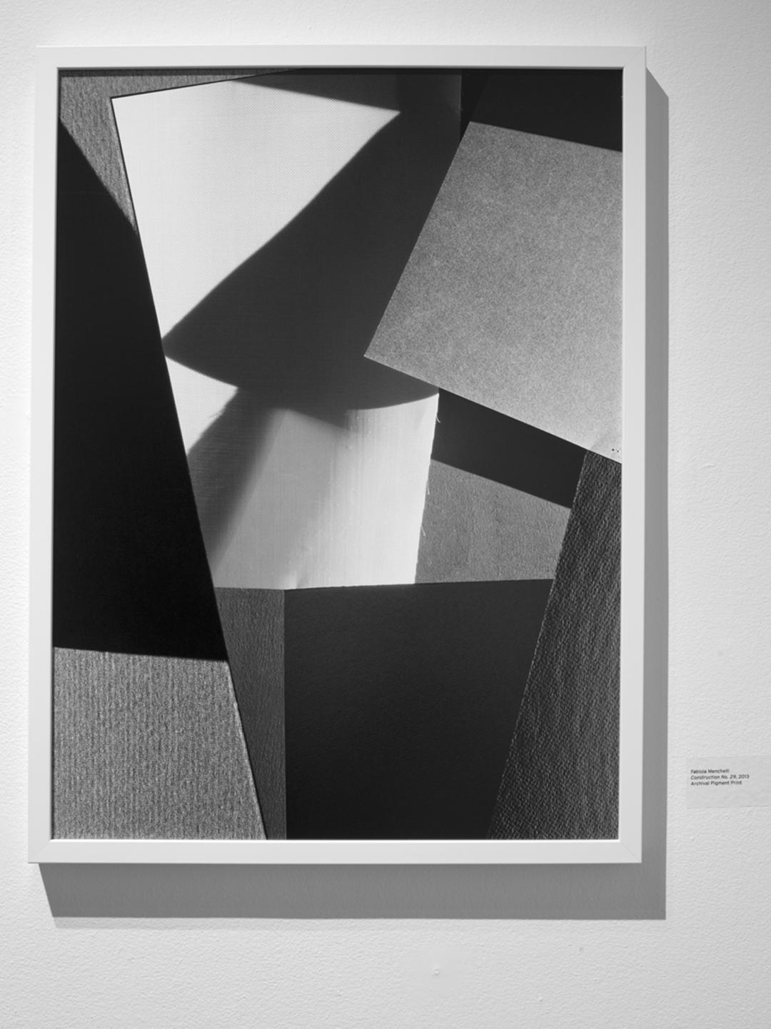 """Fabiola Menchelli, Construction 29, 2012, Archival pigment print on fibre paper, 22.5 x 30"""""""