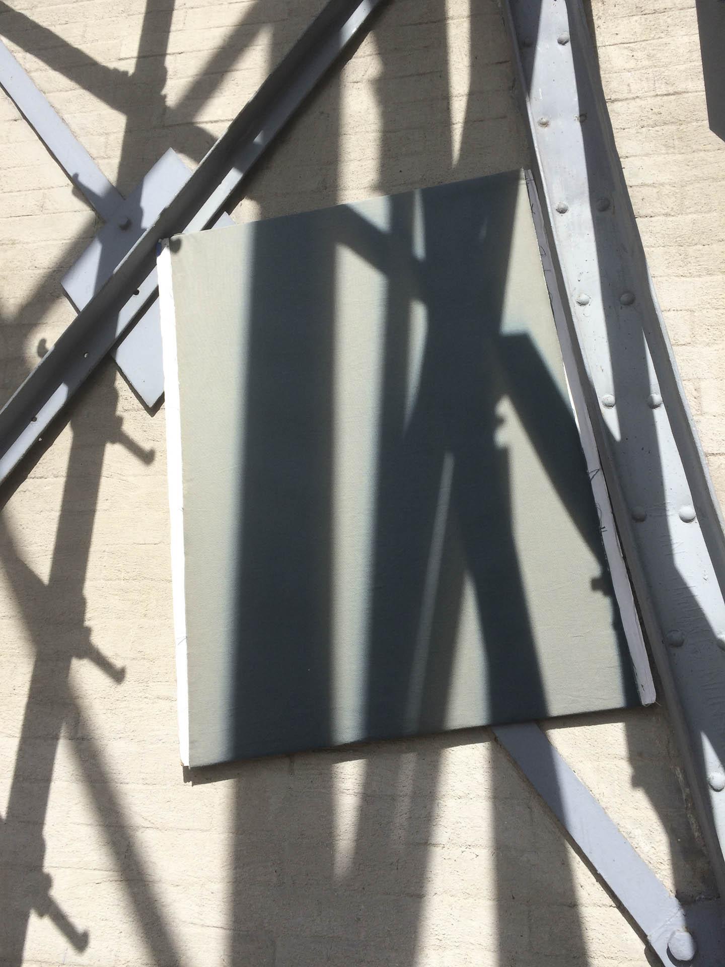 Exposicin de cianotipo sobre tela de la sombra de la torre del museo del chopo
