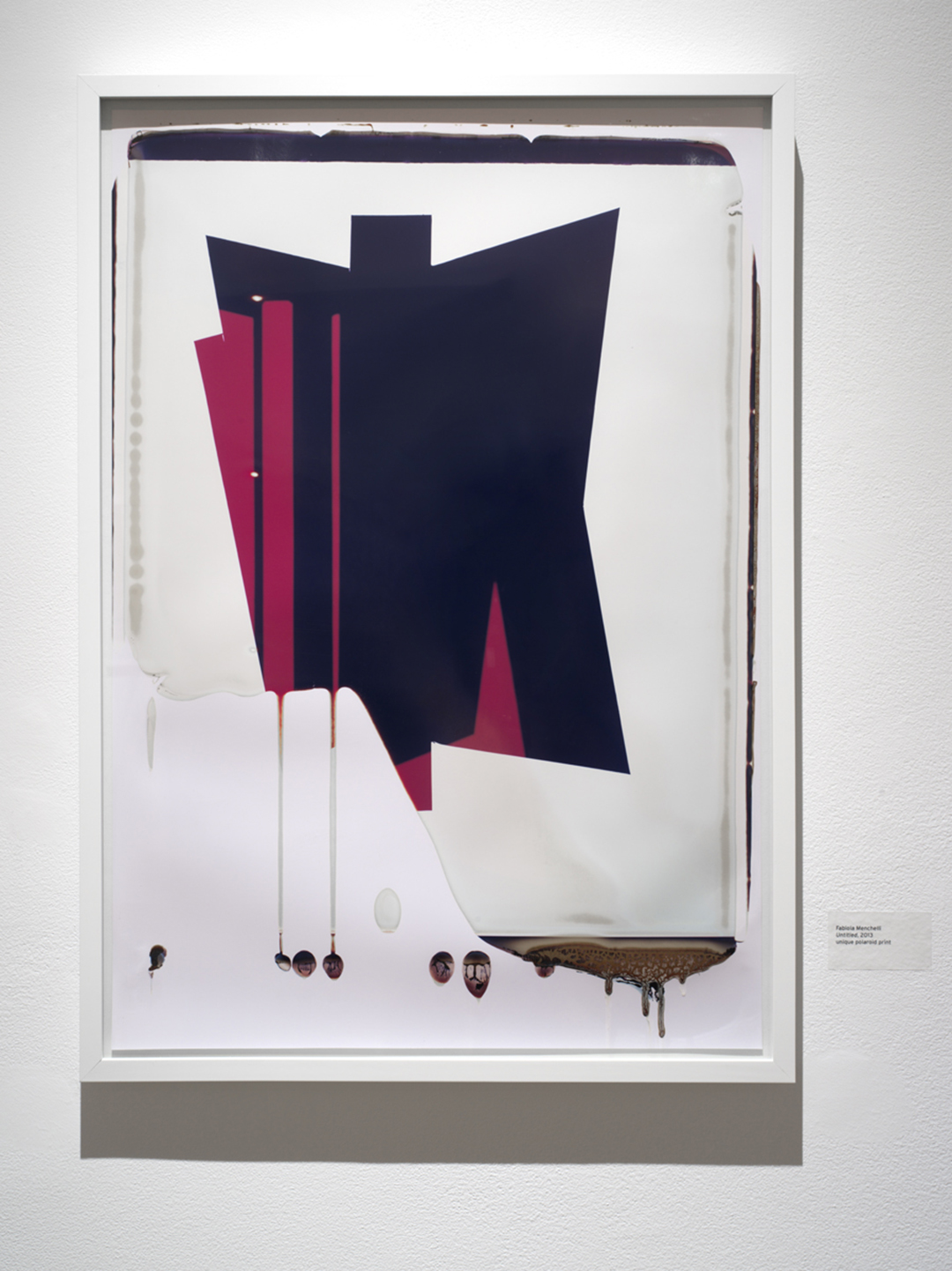 "Fabiola Menchelli, Dripping Red and black polaroid, 2013, 20 x 24"" Polaroid print"