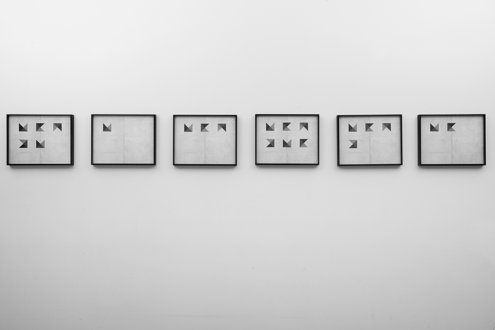"Fabiola Menchelli, Wall Drawing I, 2015, Archival Pigment Prints on Fibre Paper, 11 x 14"" each"
