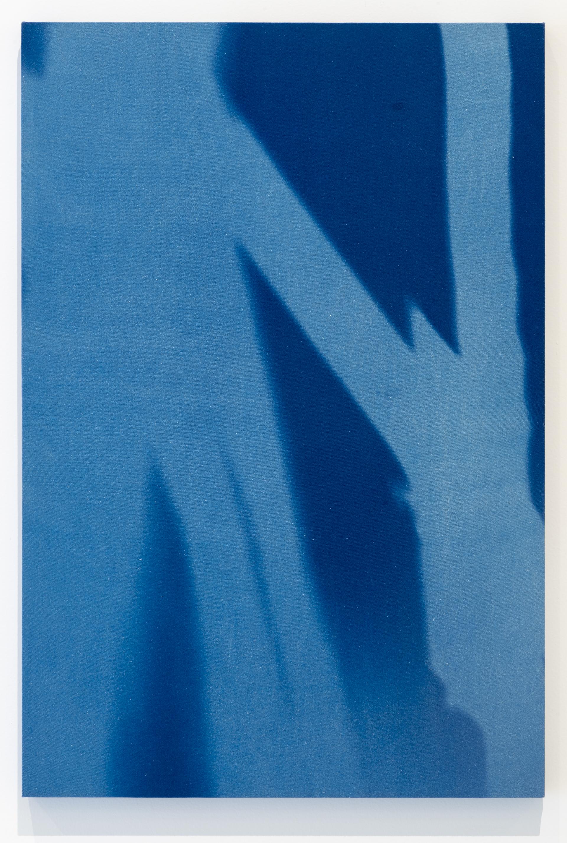 """23 de Agosto 2015, 11:45 h. Torre Norte Museo del Chopo, tiempo de exposición15 min""""  Cianotipia sobre tela montado sobre bastidor  35 x 23"""" (90x60 cm)"""