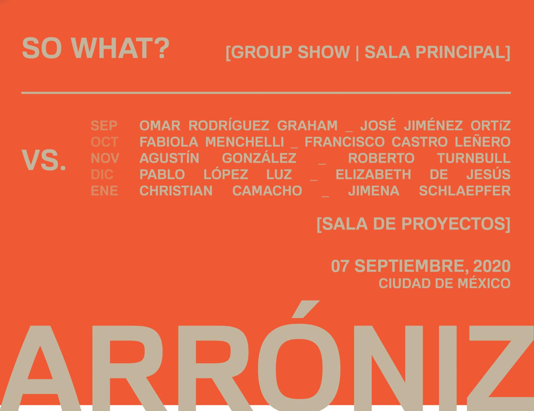 VERSUS: Fransisco Castro Leñero & Fabiola Menchelli Arroniz, Octubre 2020